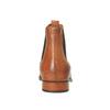 Kožená kotníčková obuv s pružnými boky ten-points, hnědá, 516-3003 - 17