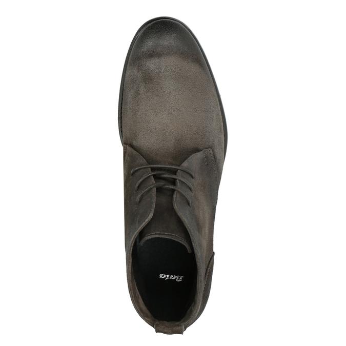 Kotníčková obuv z broušené kůže bata, šedá, 846-6611 - 19
