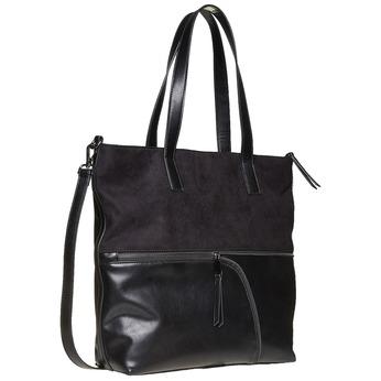 Kabelka v Shopper stylu bata, černá, 961-6847 - 13
