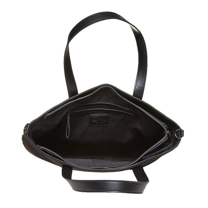 Kabelka v Shopper stylu bata, černá, 961-6847 - 15