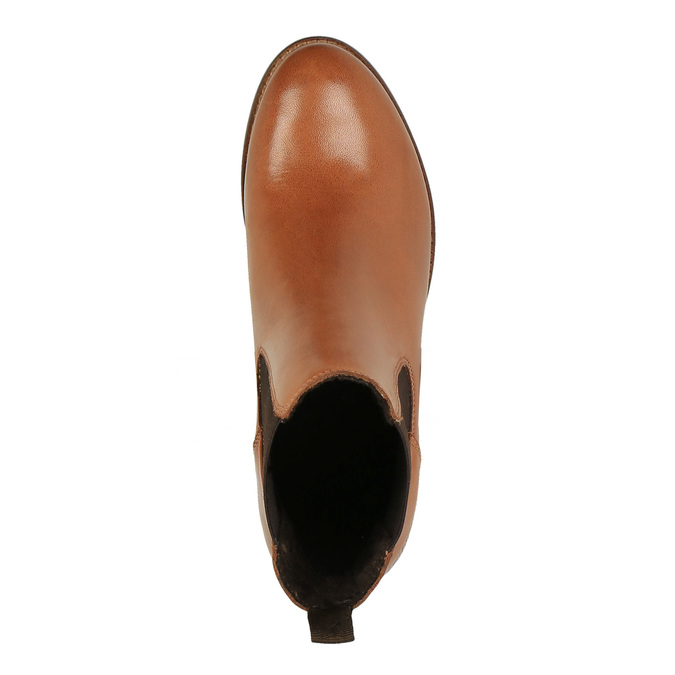 Kožené Chelsea Boots ten-points, hnědá, 716-3003 - 19