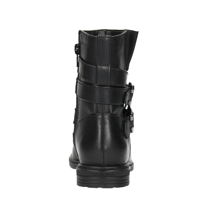 Dívčí kotníčková obuv s přezkami mini-b, černá, 391-6260 - 17
