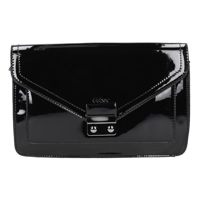 Malá dámská kabelka v lakované úpravě gabor-bags, černá, 961-6004 - 26