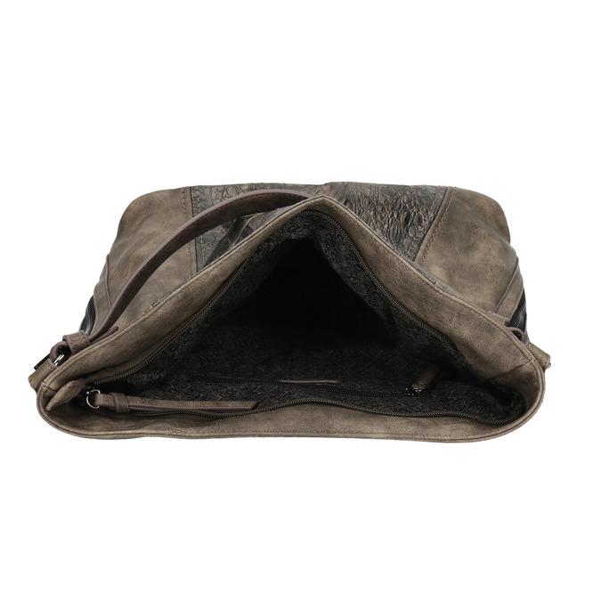 Dámská kabelka s krokodýlím vzorem gabor-bags, bílá, 961-1014 - 15