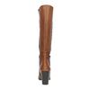 Dámské kožené kozačky bata, hnědá, 794-4447 - 17