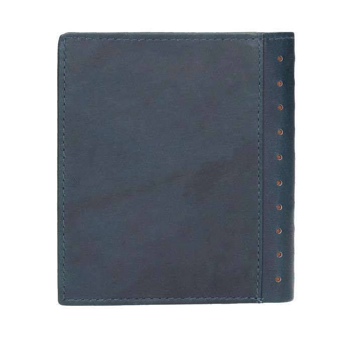 Kožená peněženka s perforací bata, modrá, 944-9175 - 19