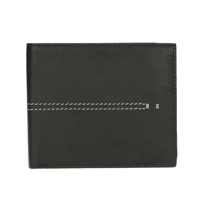 Pánská peněženka s prošíváním bata, černá, 944-6176 - 26