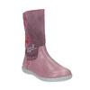 Kožené dívčí kozačky se srdíčky, růžová, 396-5003 - 13