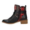 Kotníčková obuv s Etno vzorem bata, černá, 599-6604 - 26