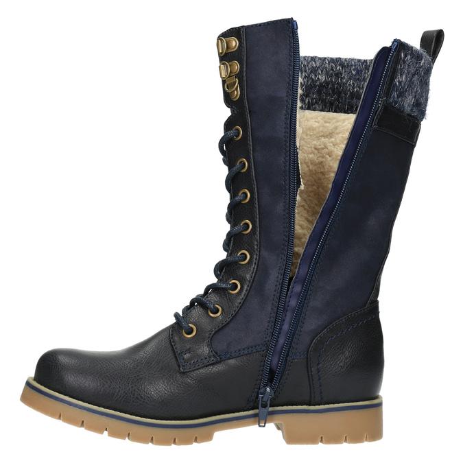 Dětská zimní obuv vysoká mini-b, modrá, 491-9650 - 19