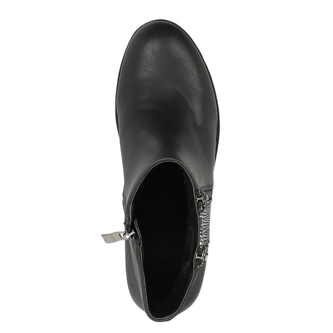Dámská kotníčková obuv se zipy bata, černá, 591-6612 - 19