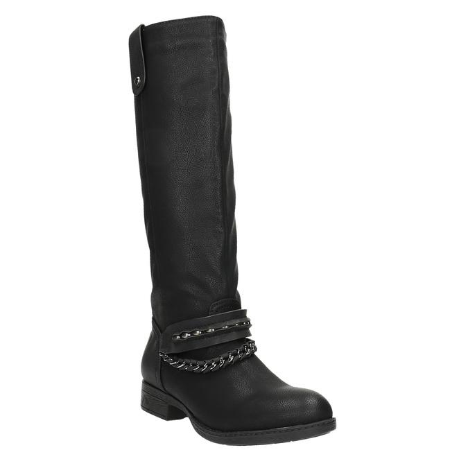 Dámské kozačky bata, černá, 591-6611 - 13