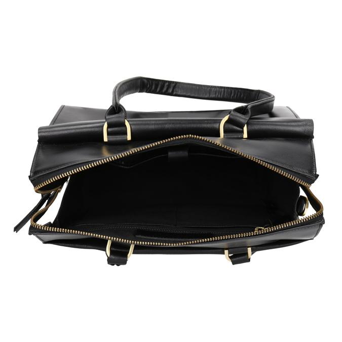 Kožená kabelka s odnímatelným popruhem royal-republiq, černá, 964-6018 - 15