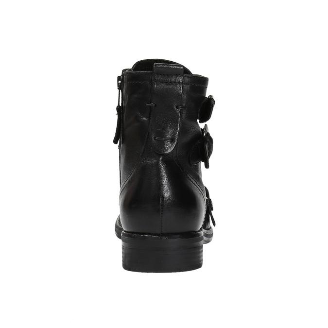 Kožená obuv s přezkami bata, černá, 894-6683 - 17