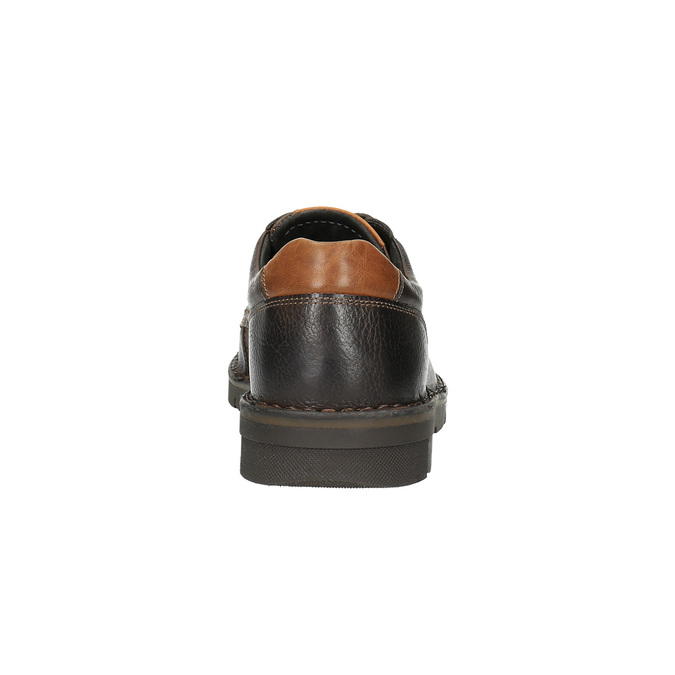 Kožené ležérní polobotky na výrazné podešvi bata, hnědá, 824-4696 - 17