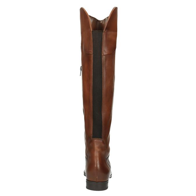 Hnědé kožené kozačky ke kolenům bata, hnědá, 594-4605 - 17