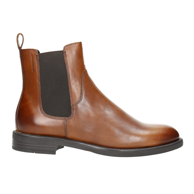 Kožená kotníčková obuv v Chelsea stylu vagabond, hnědá, 514-6009 - 15
