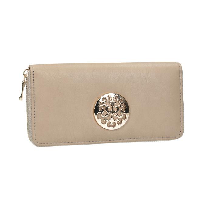 Elegantní peněženka s ozdobou bata, béžová, 941-8150 - 13