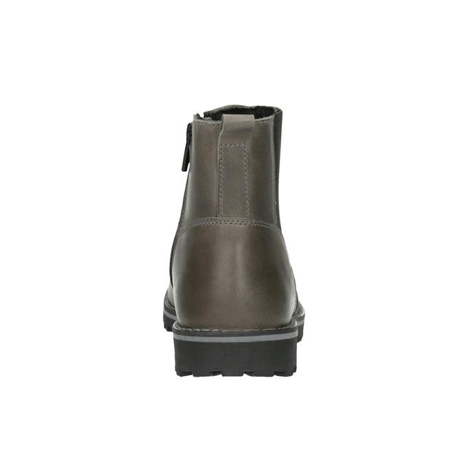Dětská kožená kotníčková obuv mini-b, šedá, 394-2316 - 17