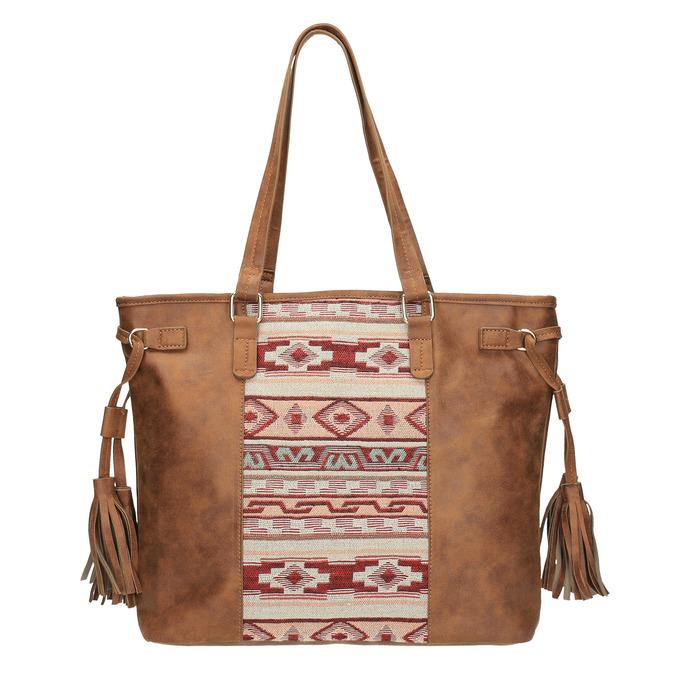 Dámská kabelka v Etno stylu bata, hnědá, 961-3669 - 19