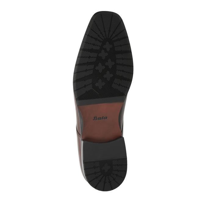 Kožené pánské Derby polobotky bata, hnědá, 824-4752 - 26