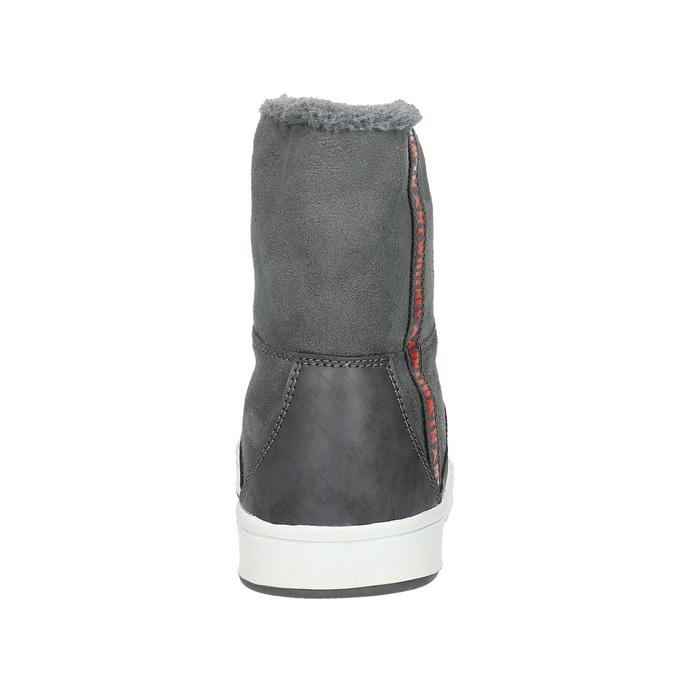 Dámská kotníčková obuv s kožíškem bata, šedá, 599-2606 - 17