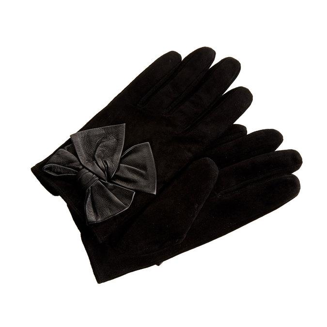 Dámské kožené rukavice v dárkové krabici bata, černá, 903-6104 - 13