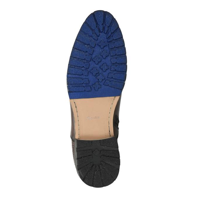 Kotníčková pánská obuv s přezkou bata, hnědá, 894-4652 - 26