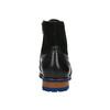 Kožená kotníčková obuv s modrou podešví conhpol, černá, 894-6682 - 17