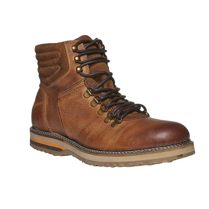 Kožené zimní boty ke kotníkům bata, hnědá, 894-3100 - 13