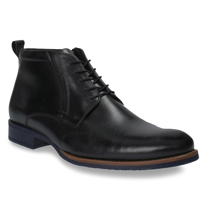 Kožená kotníčková obuv se zateplením conhpol, černá, 894-6679 - 13