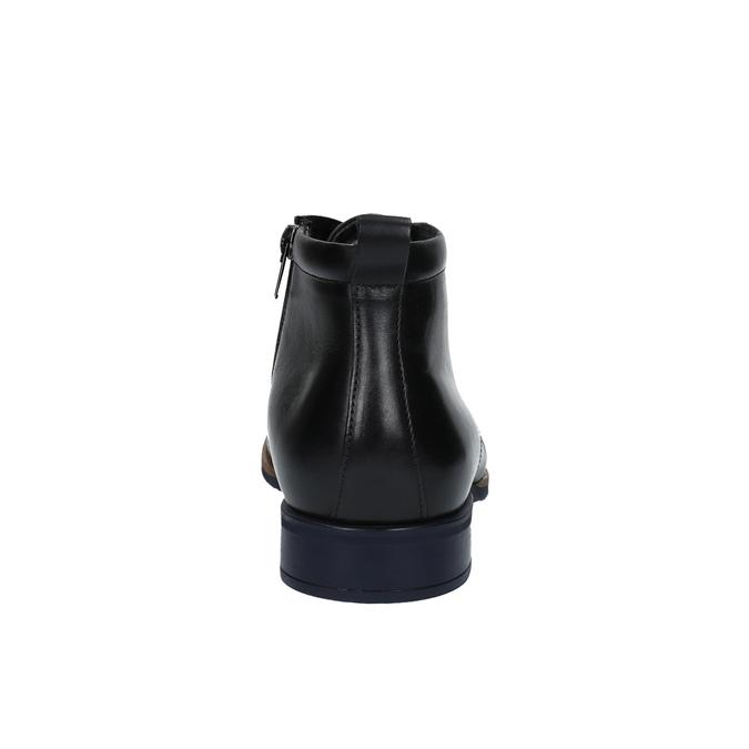 Kožená kotníčková obuv se zateplením conhpol, černá, 894-6679 - 17
