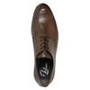 Hnědé kožené polobotky bata, hnědá, 824-4711 - 19