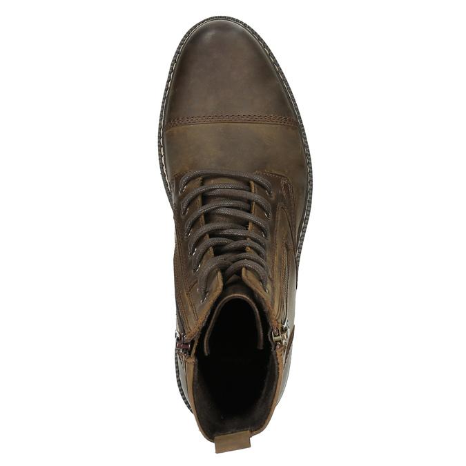Kožená kotníčková obuv bata, hnědá, 896-4641 - 19