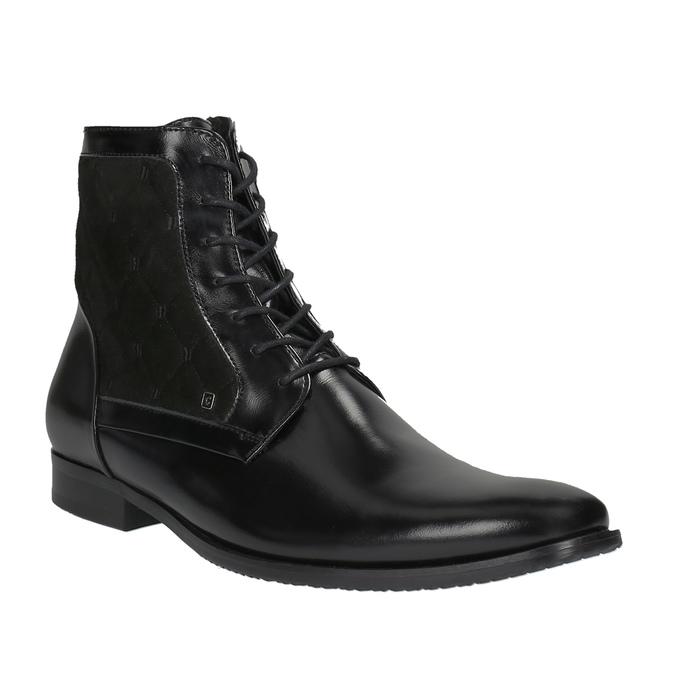 Kožená kotníčková obuv se zateplením conhpol, černá, 894-6677 - 13