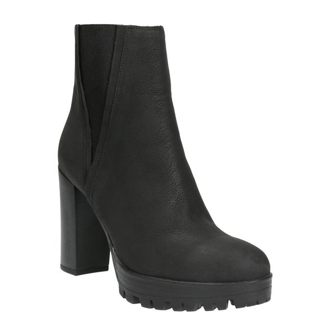 Dámská kotníčková obuv na masivním podpatku bata, černá, 796-6634 - 13