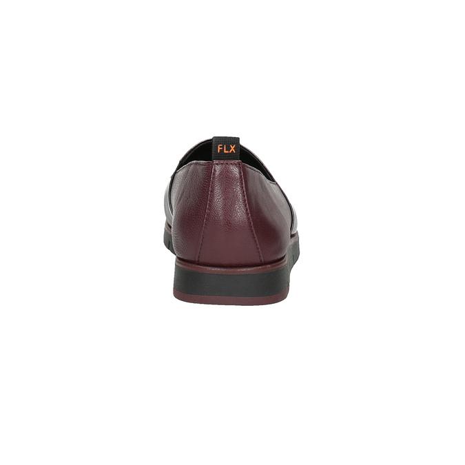 Dámské kožené Slip-on vínové flexible, červená, 514-5252 - 17