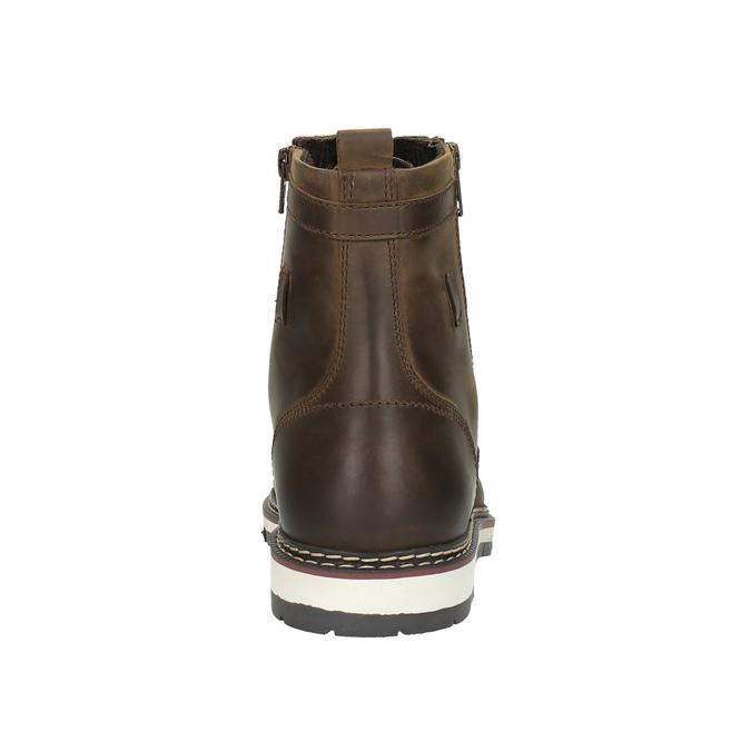 Kožená kotníčková obuv bata, hnědá, 896-4641 - 17