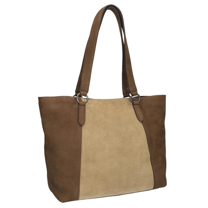 Dámská kožená kabelka bata, hnědá, 966-8200 - 13