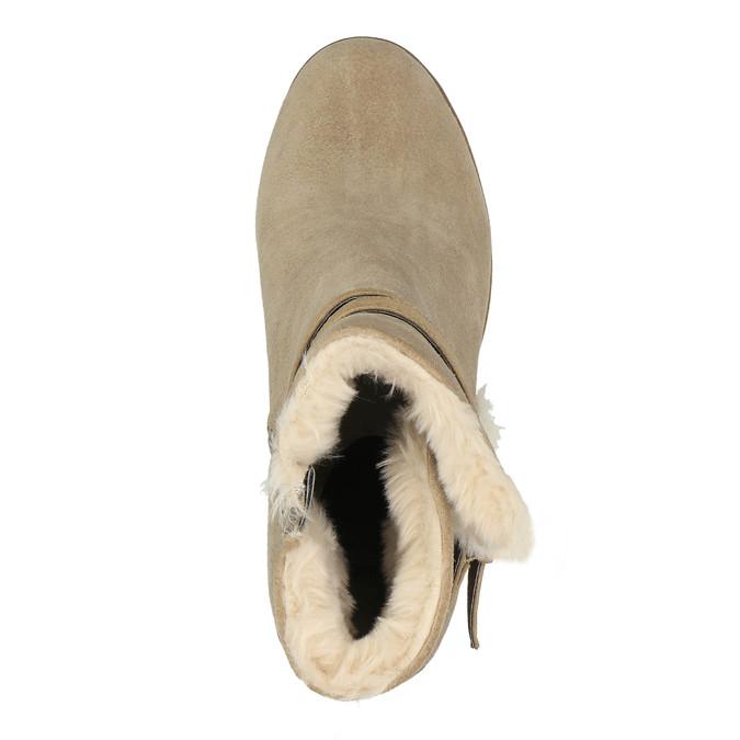 Kotníčková obuv s kožíškem bata, šedá, 793-2600 - 19