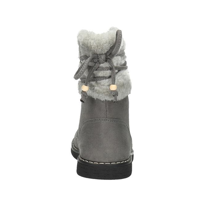 Dětská obuv s kožíškem mini-b, šedá, 399-2247 - 17