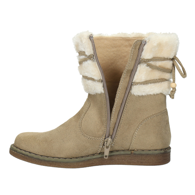 Dětská zimní obuv s kožíškem mini-b, žlutá, 399-8247 - 19