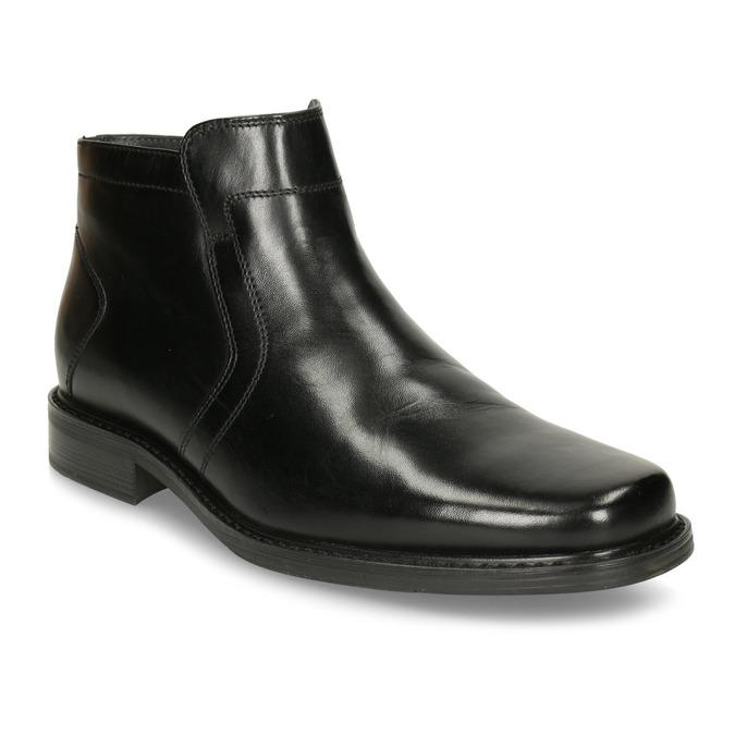 Kožená kotníčková obuv se zateplením bata, černá, 894-6641 - 13