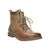 Kožená kotníčková obuv se zateplením bata, hnědá, 594-4610 - 13
