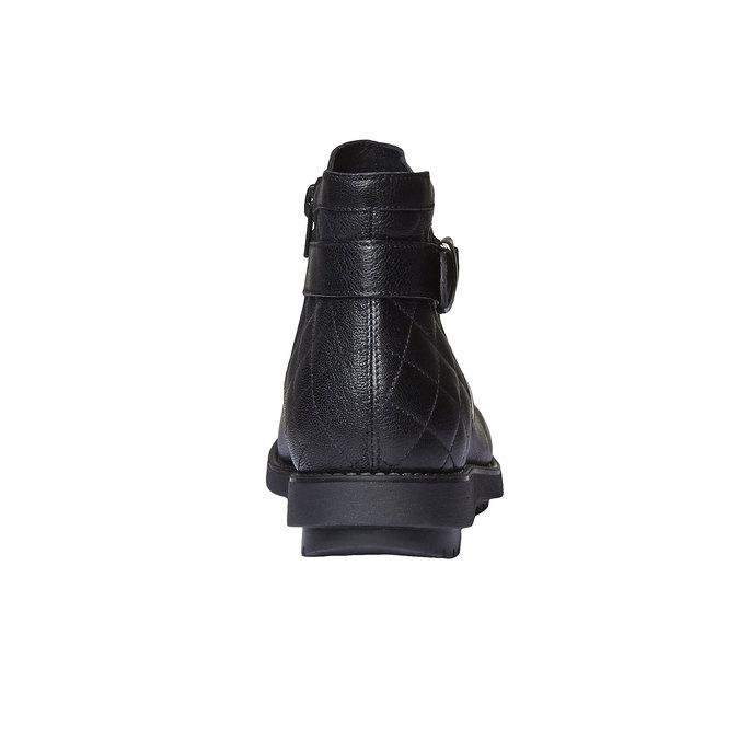 Kotníčková obuv s prošitím flexible, černá, 594-6229 - 17