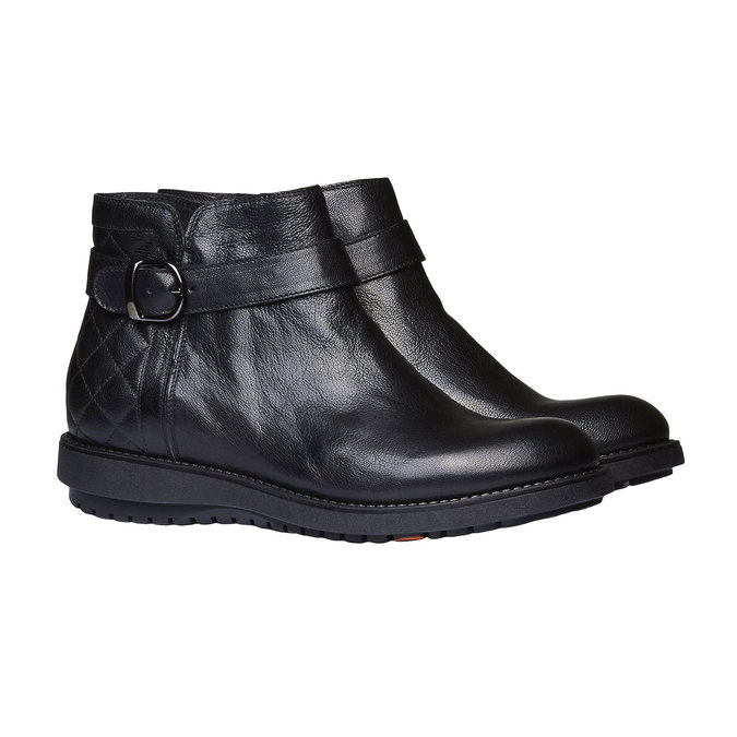 Kotníčková obuv s prošitím flexible, černá, 594-6229 - 26