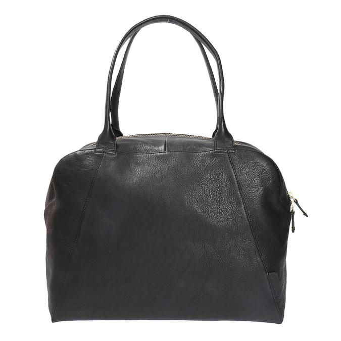 Kožená kabelka s pevnými uchy vagabond, černá, 964-6002 - 19
