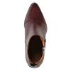Kožená kotníčková obuv se zipem ten-points, červená, 714-5001 - 19