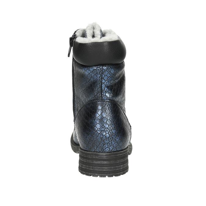 Dětská zimní obuv bull-boxer, modrá, 491-9008 - 17