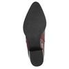 Kožená kotníčková obuv se zipem ten-points, červená, 714-5001 - 26